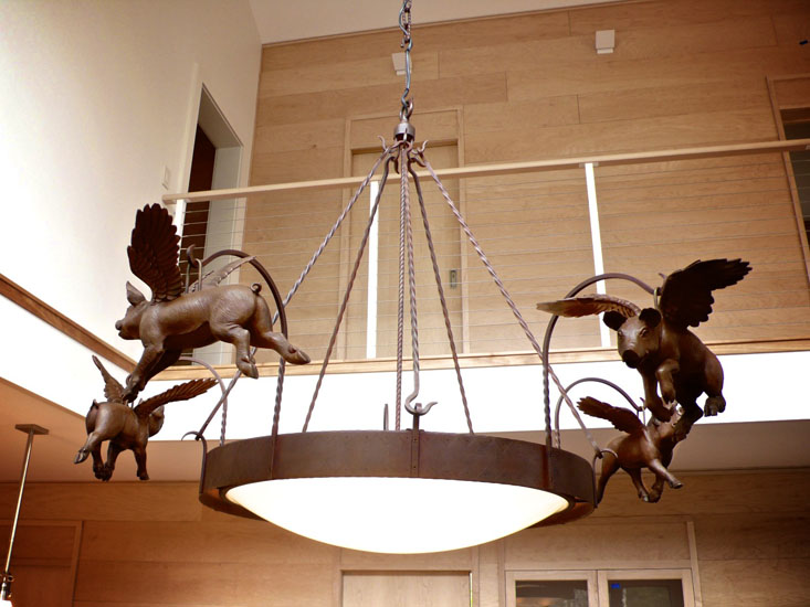 Pigs Fly Light Fixture