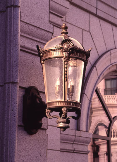 Cast Bronze Exterior Light Fixture