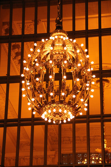Cast Ball Chandelier