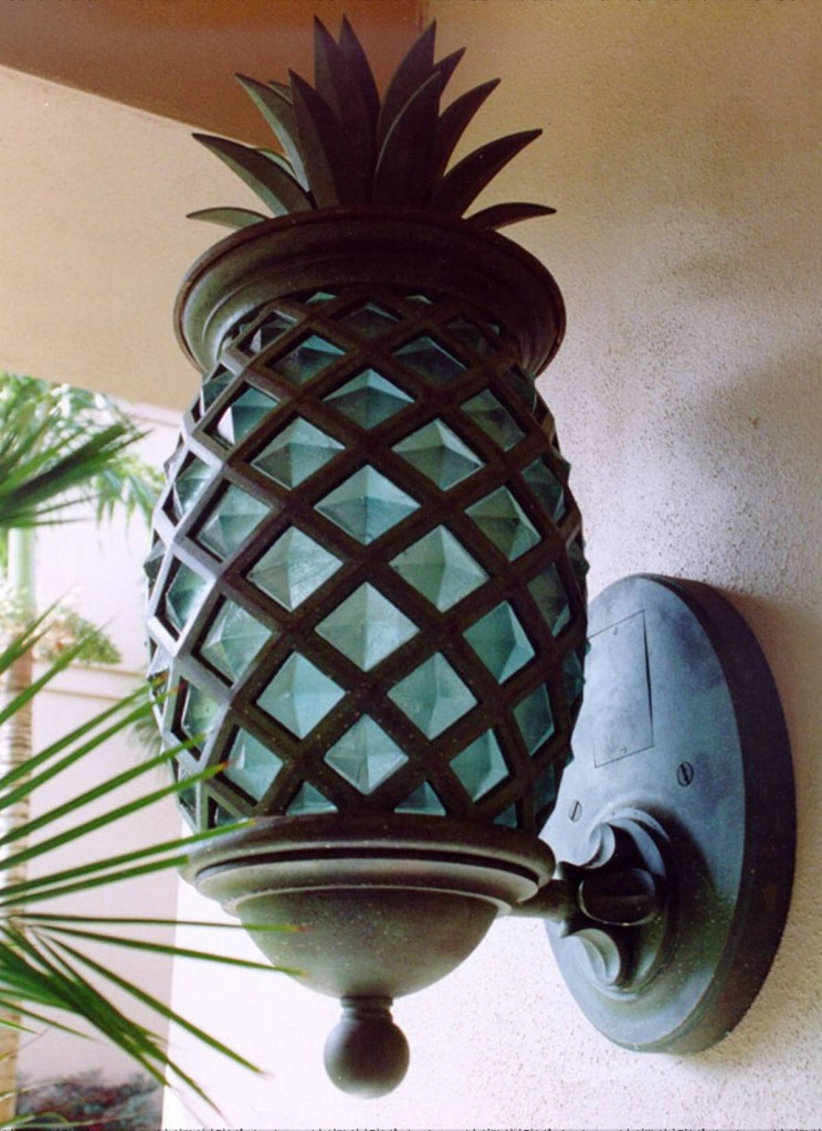 Cast Pineapple Light Fixture