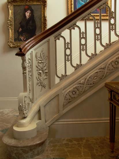 Cast Interior Stair Railing