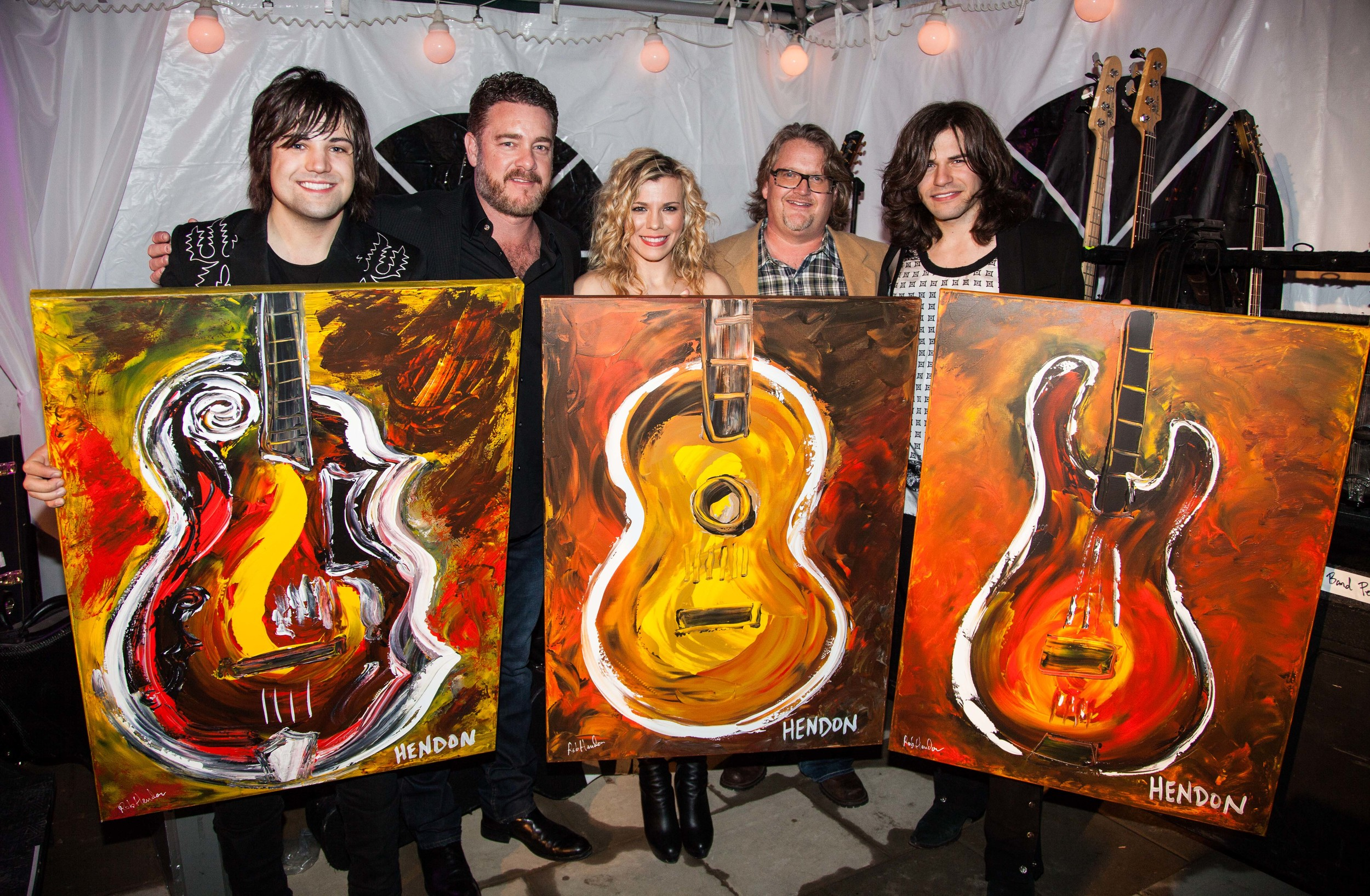 Rob created this special art for the Band Perry