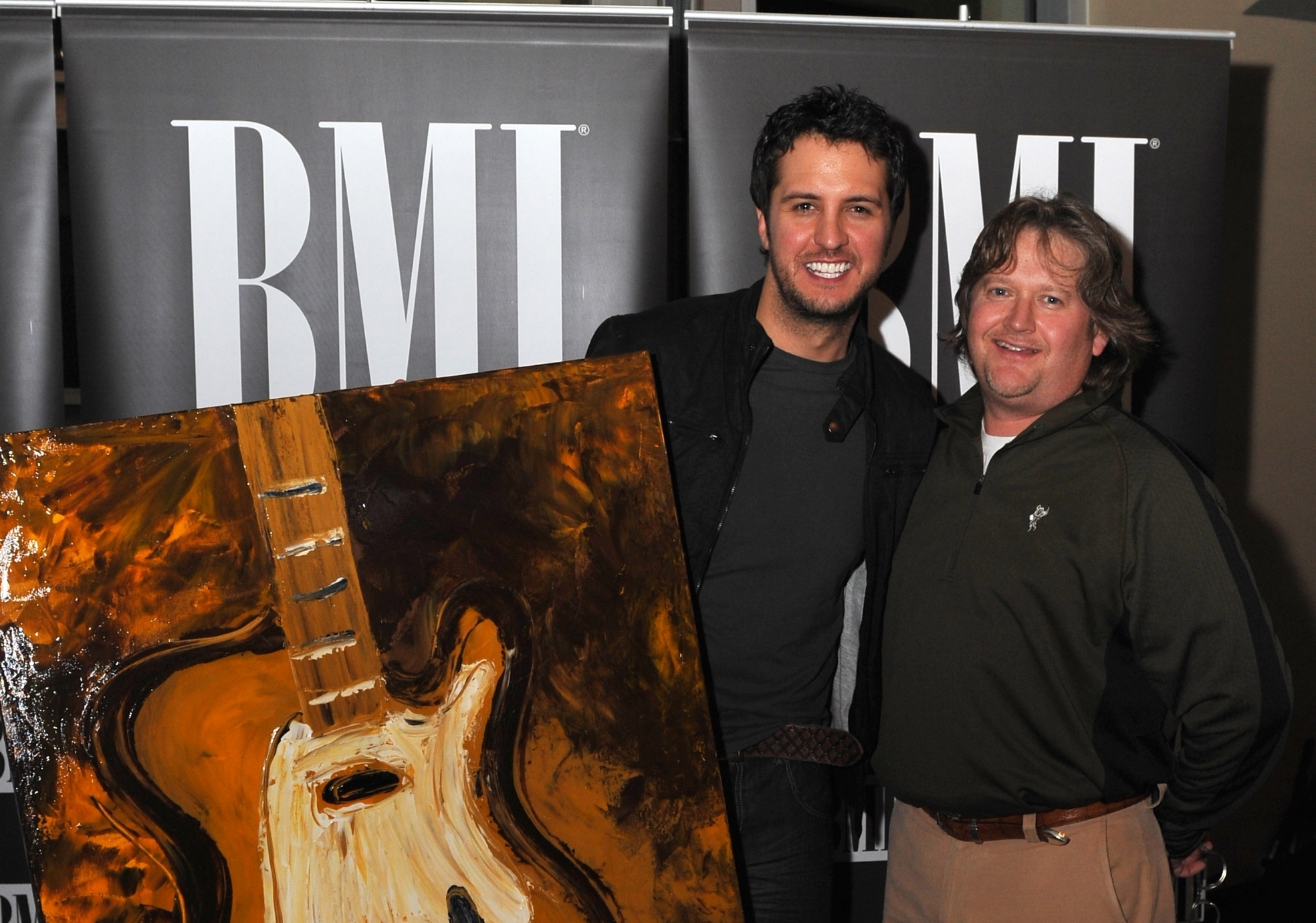 Luke Bryan's 1st #1 and 1st Hendon Painting (he has a some of each)