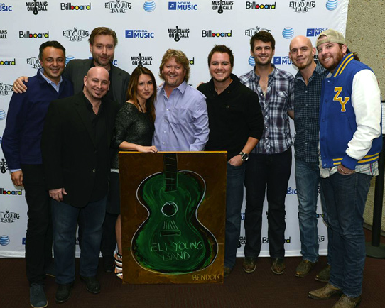 The Eli Young Band and Nokia Executives at the Country Music Hall of Fame