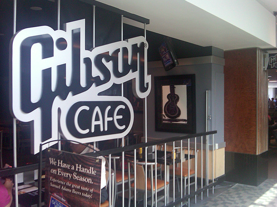 Hendon art displayed in the Gibson Cafe at the Nashville Airport