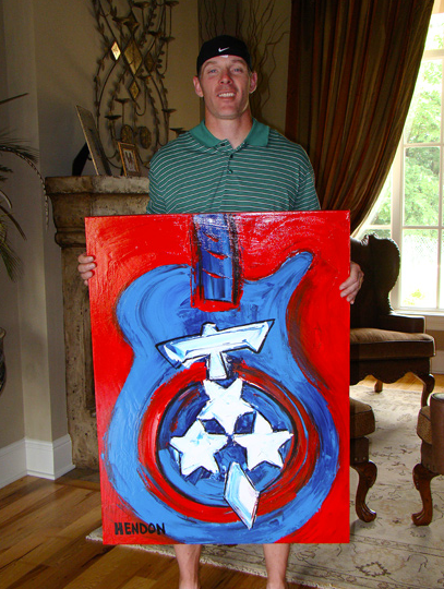 Tennessee Titans quarterback Kerry Collins commissioned a Titans painting