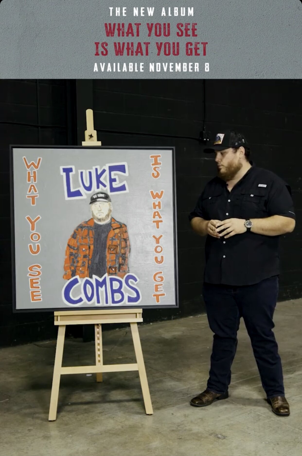 Luke Combs Album Cover Painted by Rob
