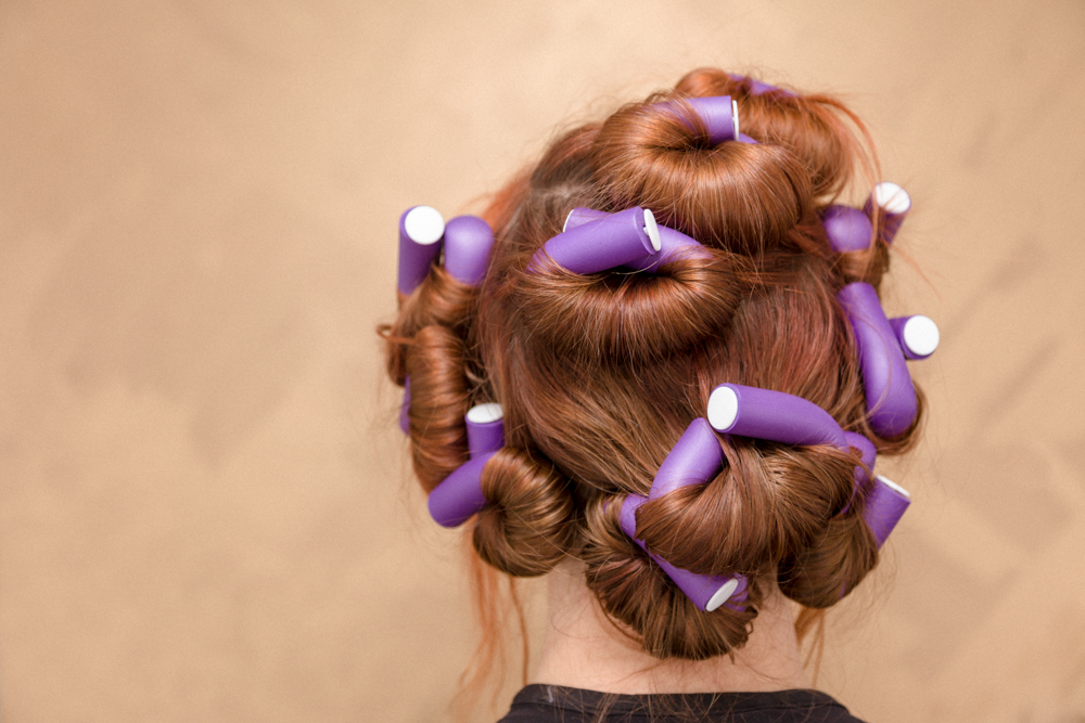 Sleep with soft rollers in hair.  I find it works best with day old hair that has some kind of holding product in it such as  Uplifting Foam  and/or  Working Spray .