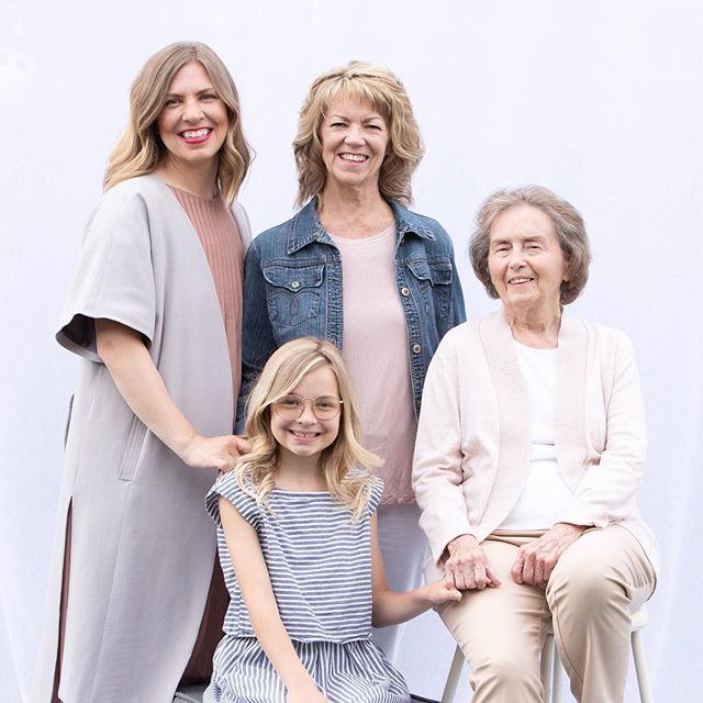 My daughter, my mama, and my grandmama.  My GG turns 88 years young this coming week!  If her genes run strong in us, we'll all be looking young our entire lives! . We're all under one roof for a couple months, and I'm so grateful for this season! . 📷 @marcusedwardsphoto