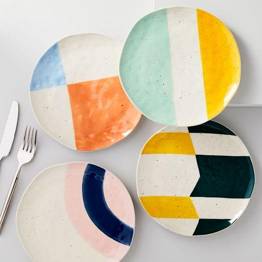 Pastel Speckled Plates