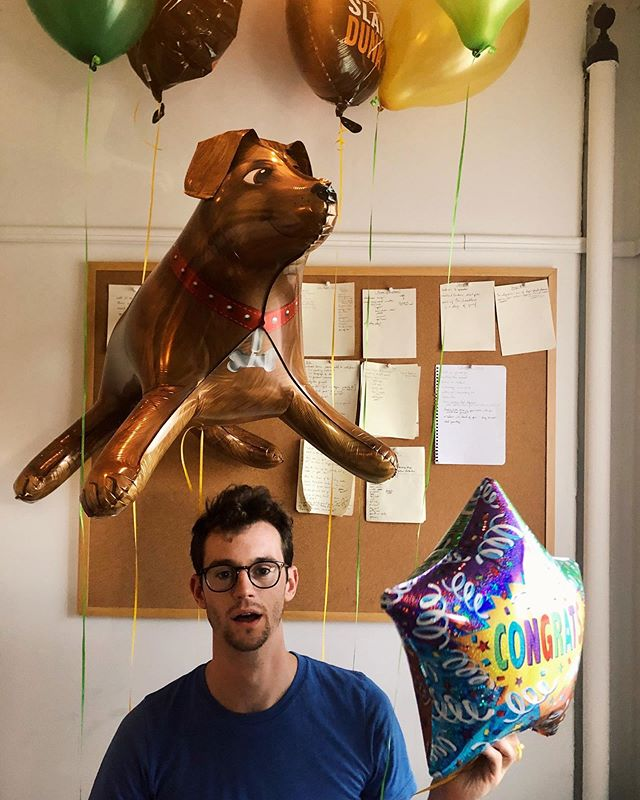 celebrate every win.  that's my dog. her name is Harriet. #tgif #realdog #purebred #notaballoonanimal