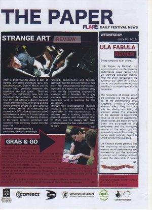 2011 & 2012:The Paper @ TheManchester Flare Festival -