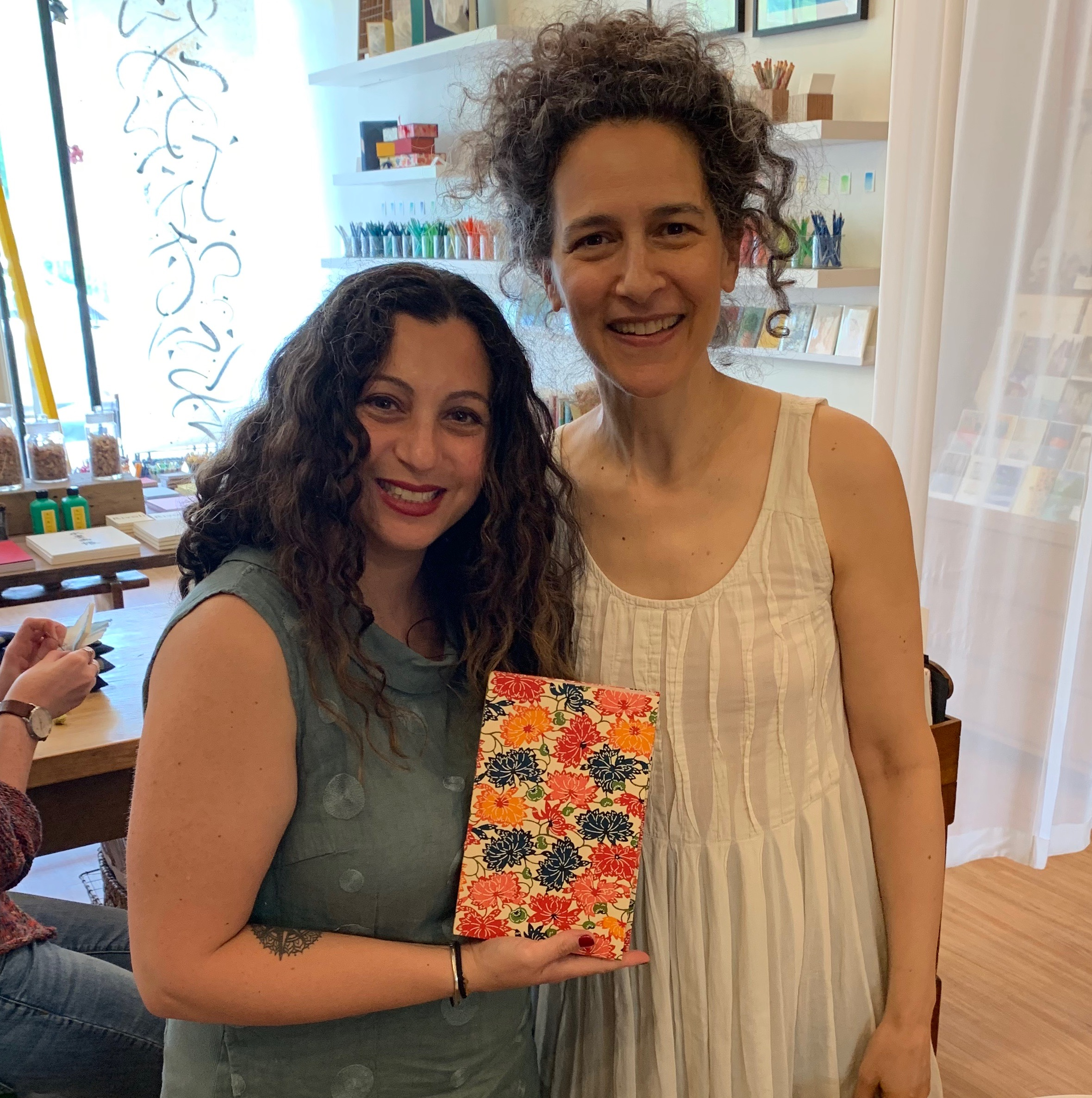 Can you tell how excited I am? I had to get a photo of my completed Buttonhole Stitch Journal with the master Bari Zaki from Bari Zaki Studio in Chicago's Lincoln Square neighborhood.