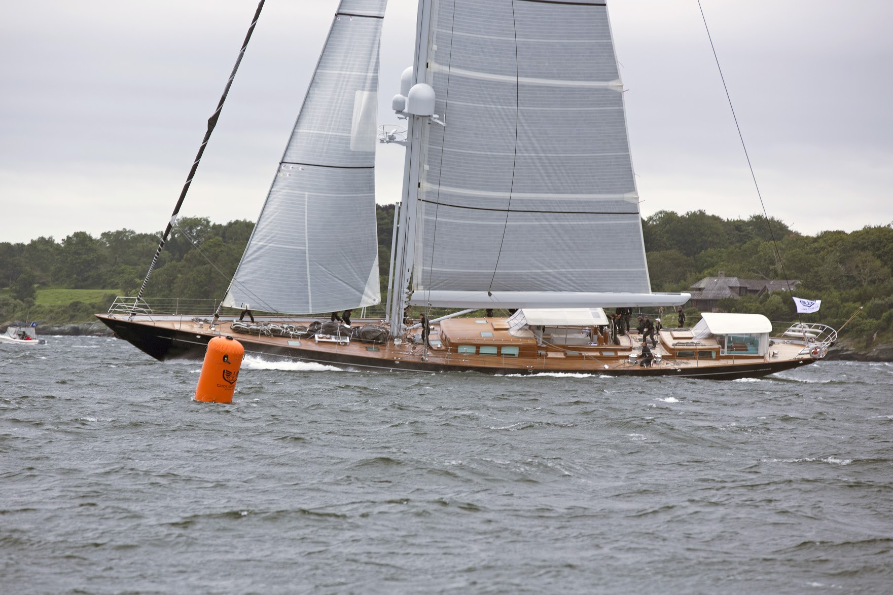 ACTION  wins Class A in the 2017 Candy Store Cup Superyacht Regatta. Photo:  Billy Black