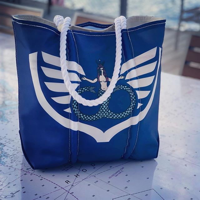 Candy Store Cup bags, made by @seabagsmaine, now on sale in store at Newport Shipyard and online (link in profile.) Ltd quantities! #candystorecup#seabag #bannisterswharf #newportshipyard
