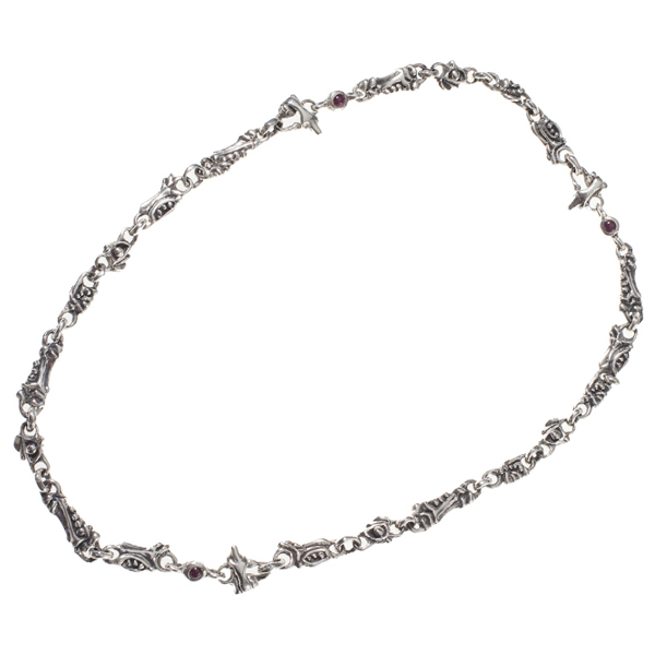 3-Clasp Ruby Necklace