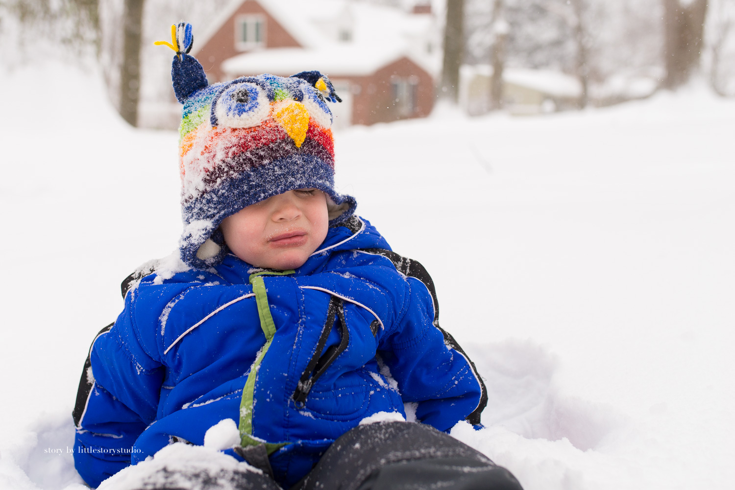 A little snowy face plant. Chalk that one up to experience. It's a rite of passage, yes?