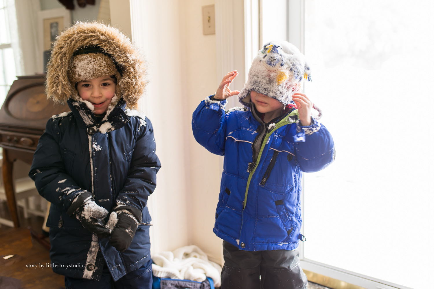 They were the last two to come in the house, matted with snow and sporting rosy cheeks. When they were little, I took for granted all the days they could have impromptu playdates at each other's house. Now that they are in school, I'll take any excuse to give them some much need quality playtime.