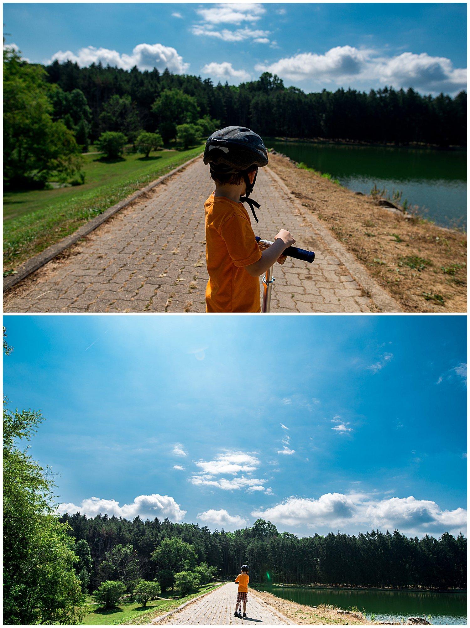 big sky and water at twin lakes park