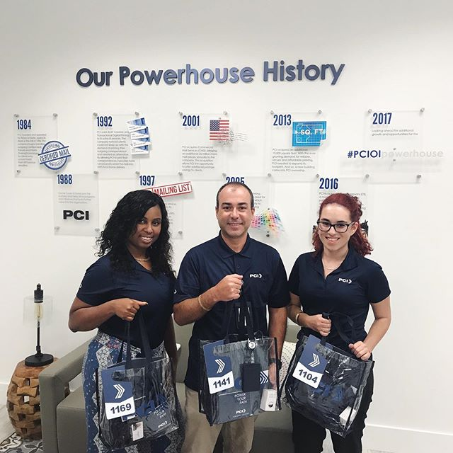 A Powerhouse Welcome... our associates each received a Power Your Path Welcome Kit designed to help them look their PCI best and acclimate them to our new corporate headquarters and surrounding areas of interest. The kit included new uniform shirts, a custom-designed corporate and city directory, badge carriers and reels and so much more.
