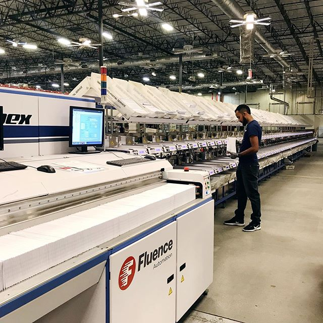 No slow moving here...we have added a complete line of sorters that meet our clients' high-speed mail processing needs and now enable us to process more than 3 million pieces of mail each day.