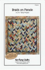 """With one package of 2 ½"""" strips, your trapezoid ruler, and the Braids on Parade pattern you can create a lovely quilt for anybody. It looks slightly modern, but recalls a longtime favorite quilting design."""