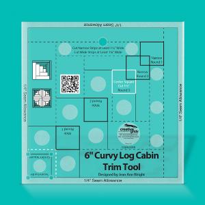 Curvy Log Cabin Trim Tool Video:   https://www.creativegridsusa.com/products/CGRJAW6