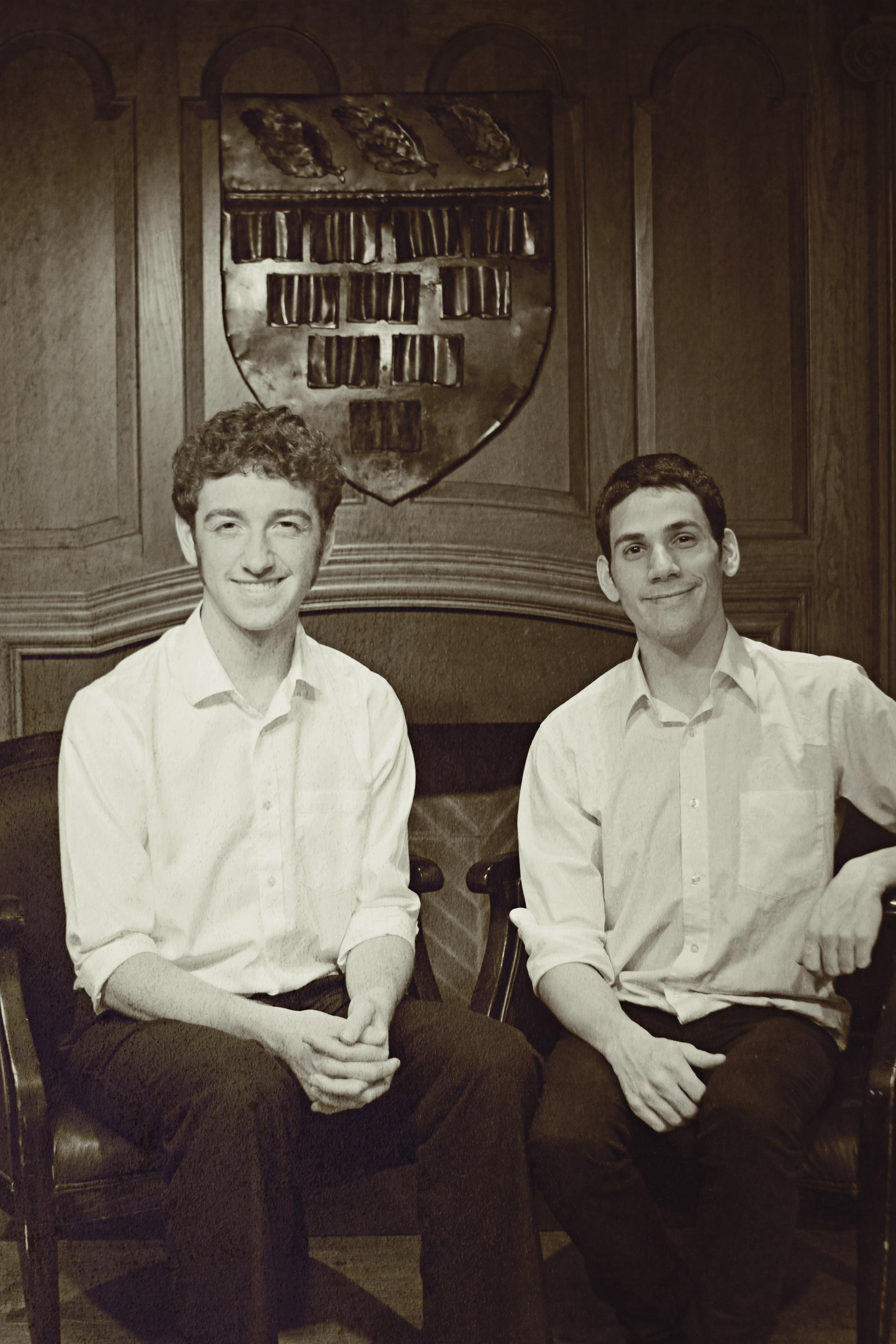 Seymour ( Tommy Bazarian ) and Buddy ( Richard Miron ).