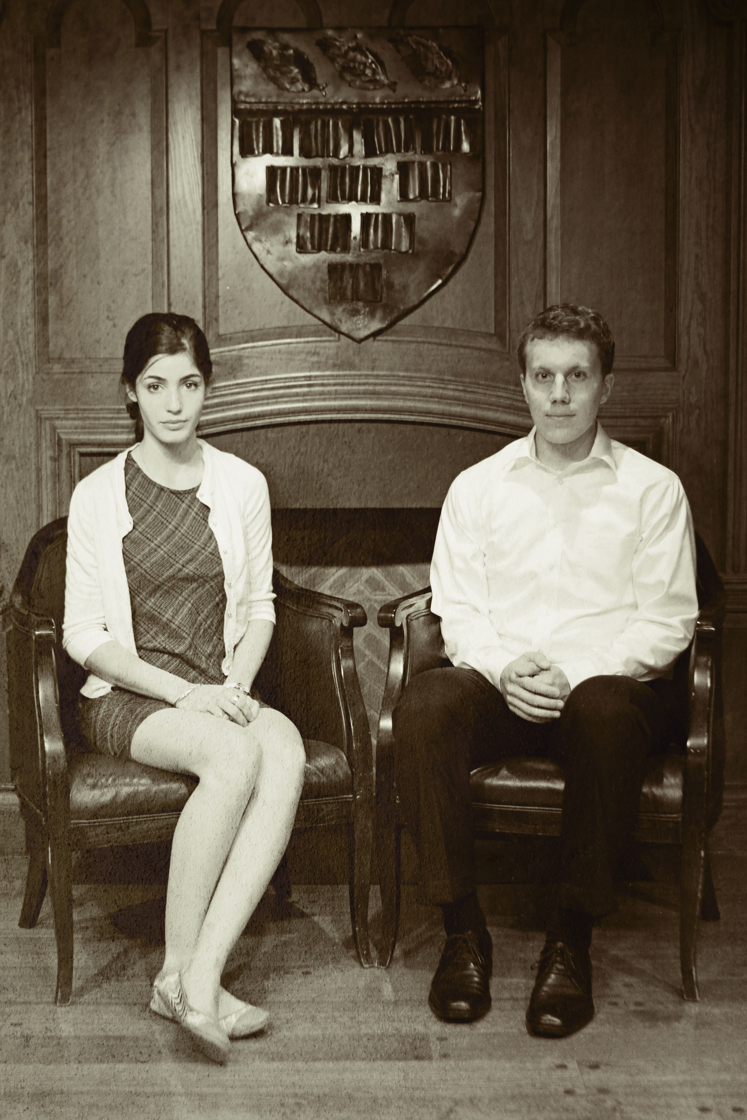 Franny ( Julie Shain ) and Zooey ( James Dieffenbach ).