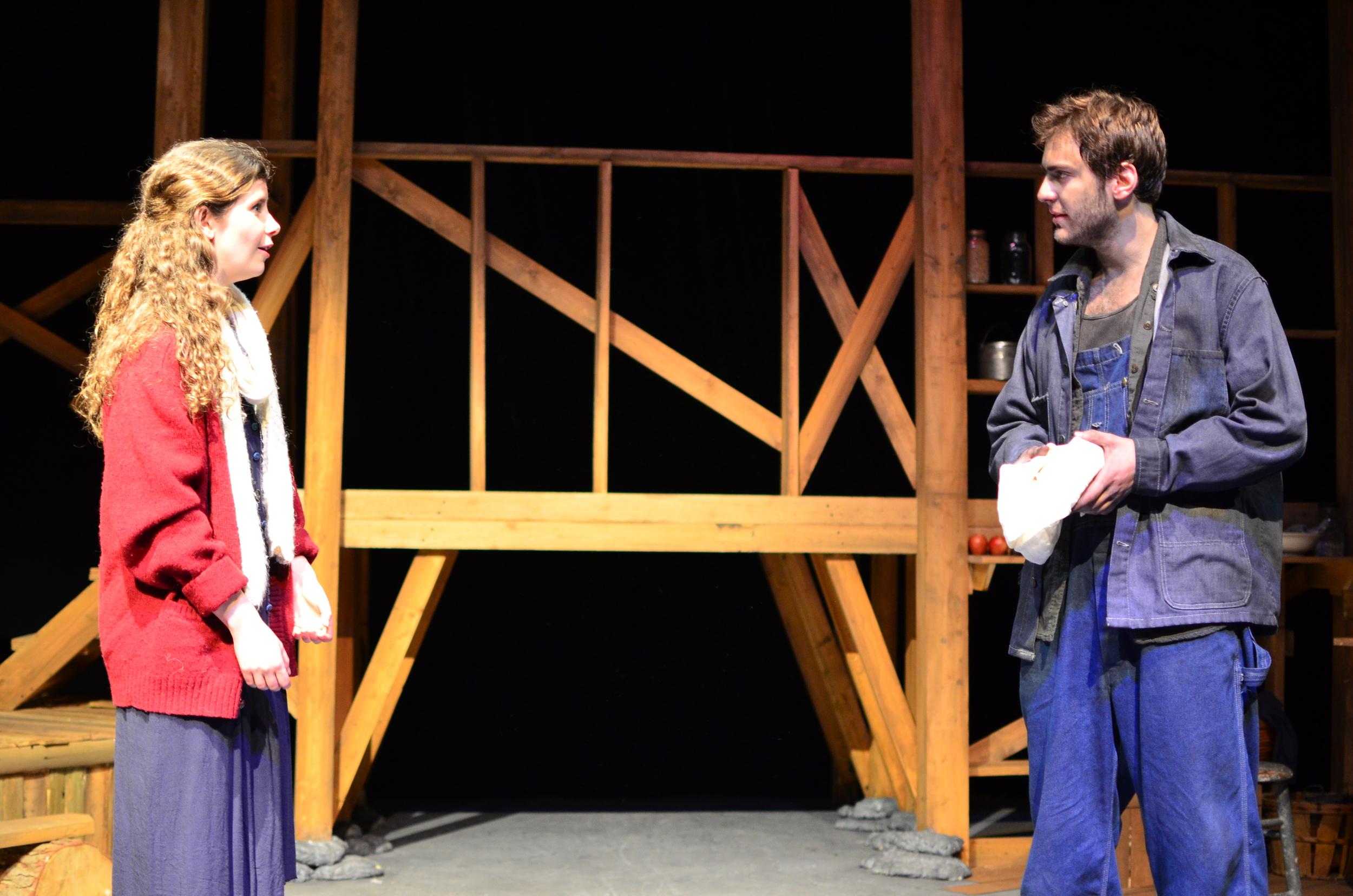 Orlena ( Laurel Durning-Hammond ) and Ward ( Nathaniel Janis ).