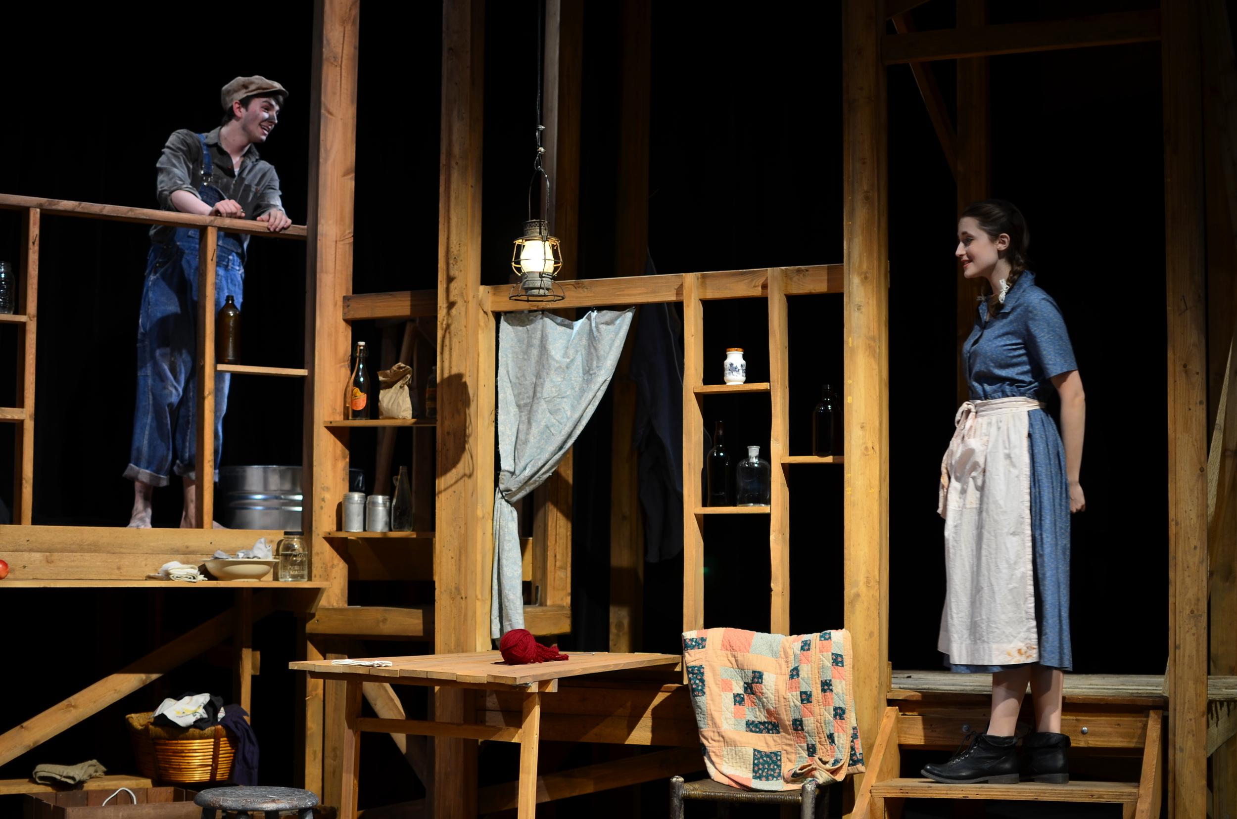 Elliott ( Christian Probst ) and Sary ( Lucie Ledbetter ).