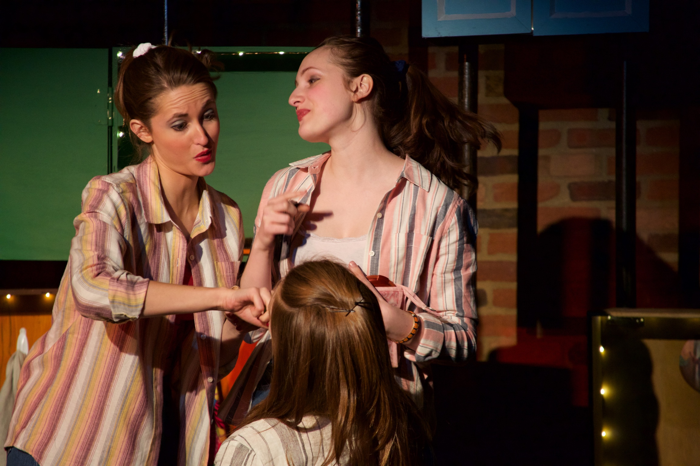 Debby ( Lucie Ledbetter ) and Linda ( Lucy Fleming ).