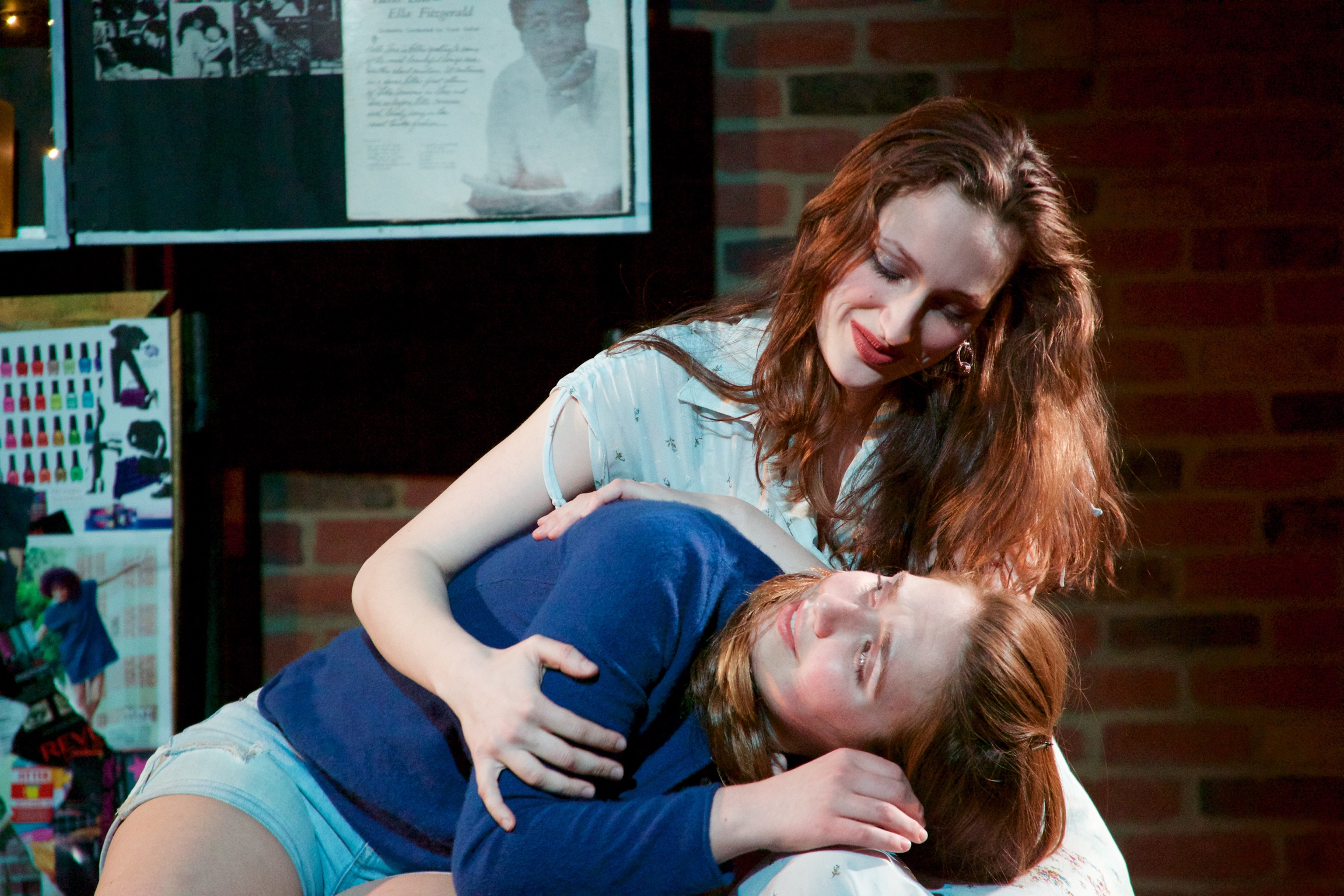 Claire ( Lucy Fleming ) and Astrid ( Sarah Chapin ).