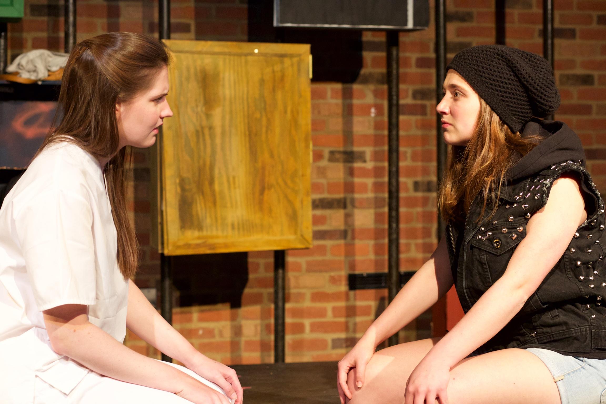 Ingrid ( Caroline Rouse ) and Astrid ( Sarah Chapin ).