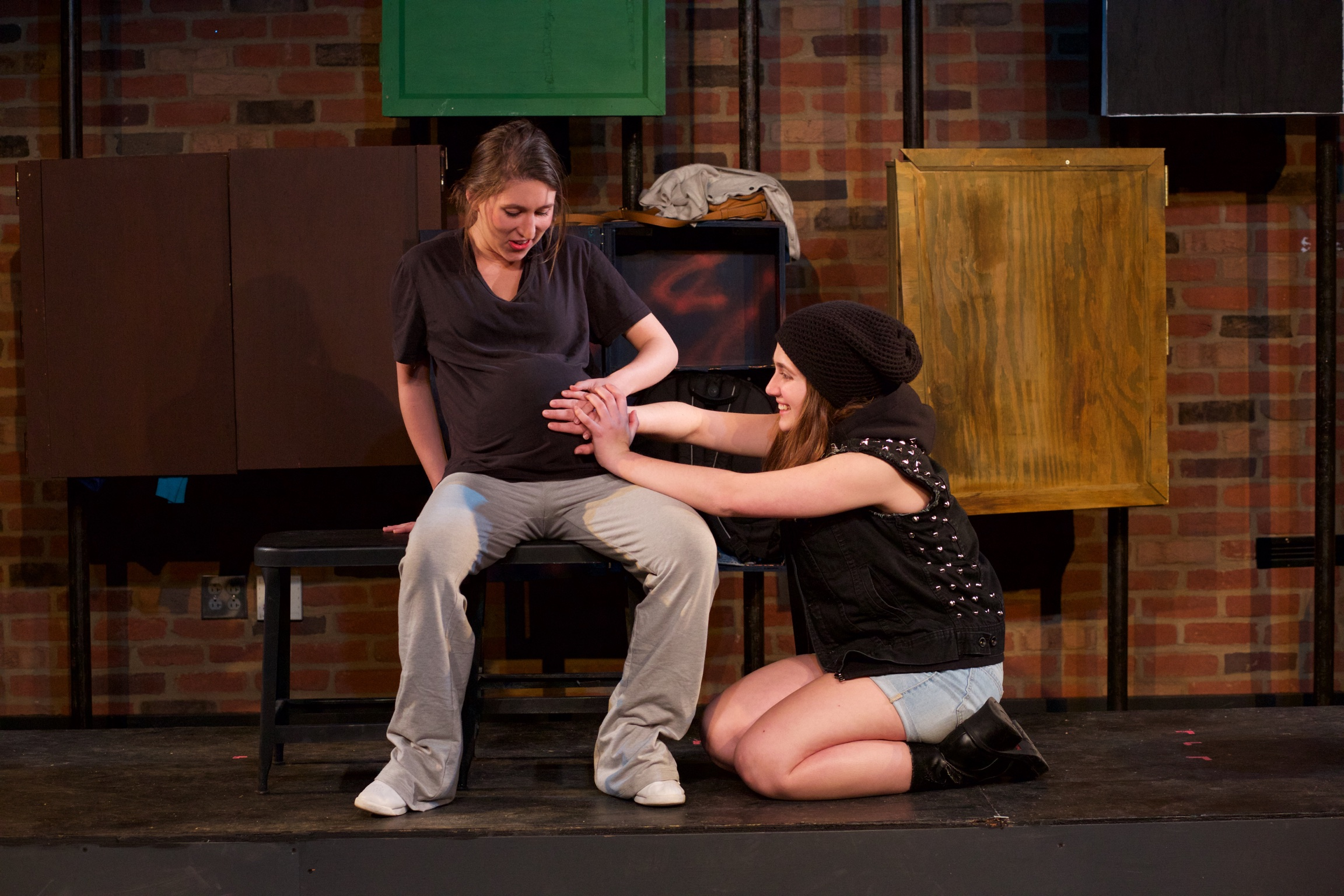 Yvonne ( Alyssa Miller ) and Astrid ( Sarah Chapin ).