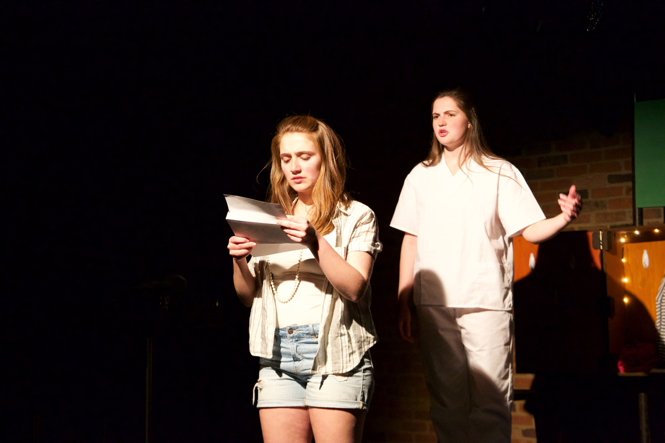 Astrid ( Sarah Chapin ) [ foreground ]; Ingrid ( Caroline Rouse ) [ background ].