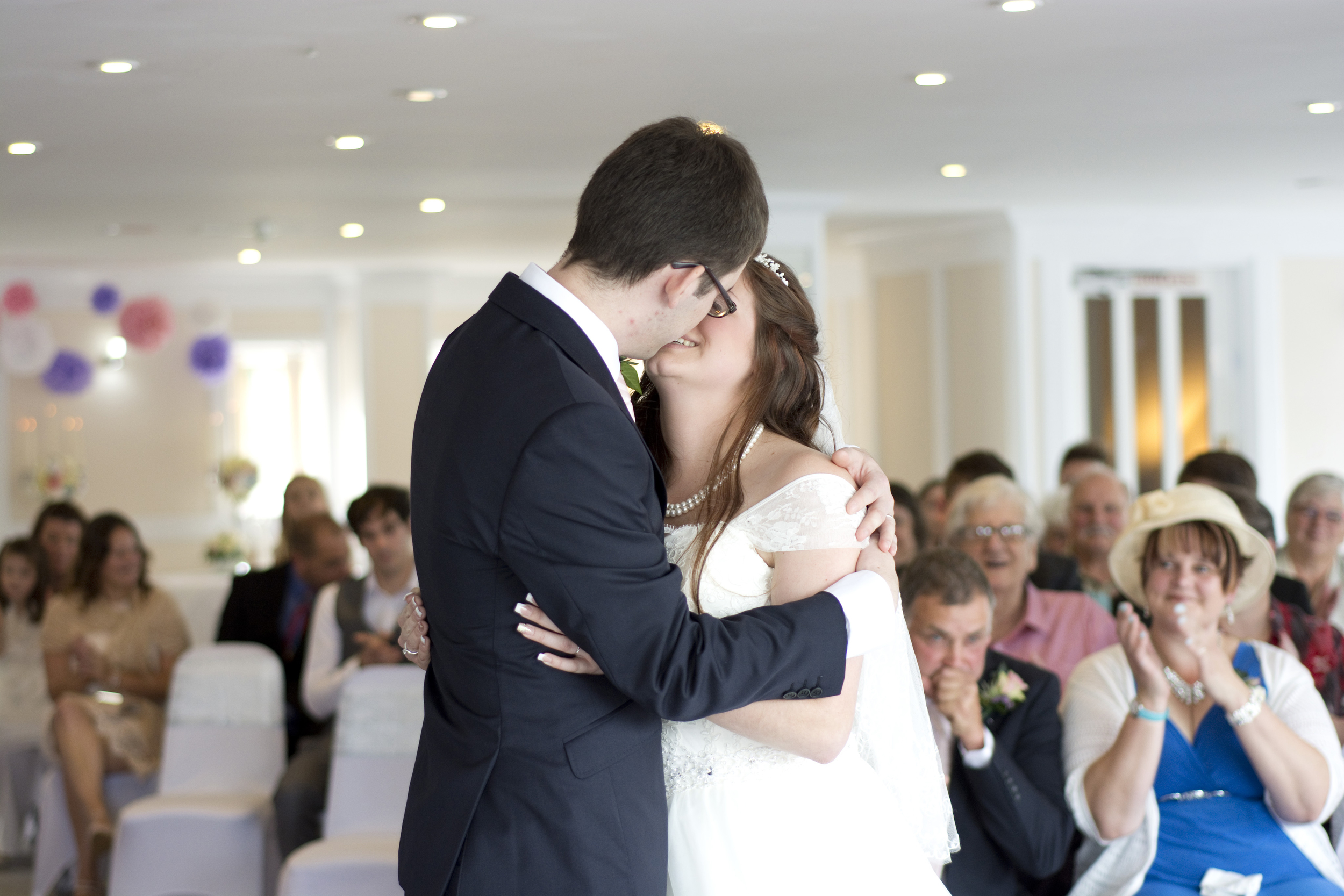 the first kiss at The GreenBank Hotel Falmouth