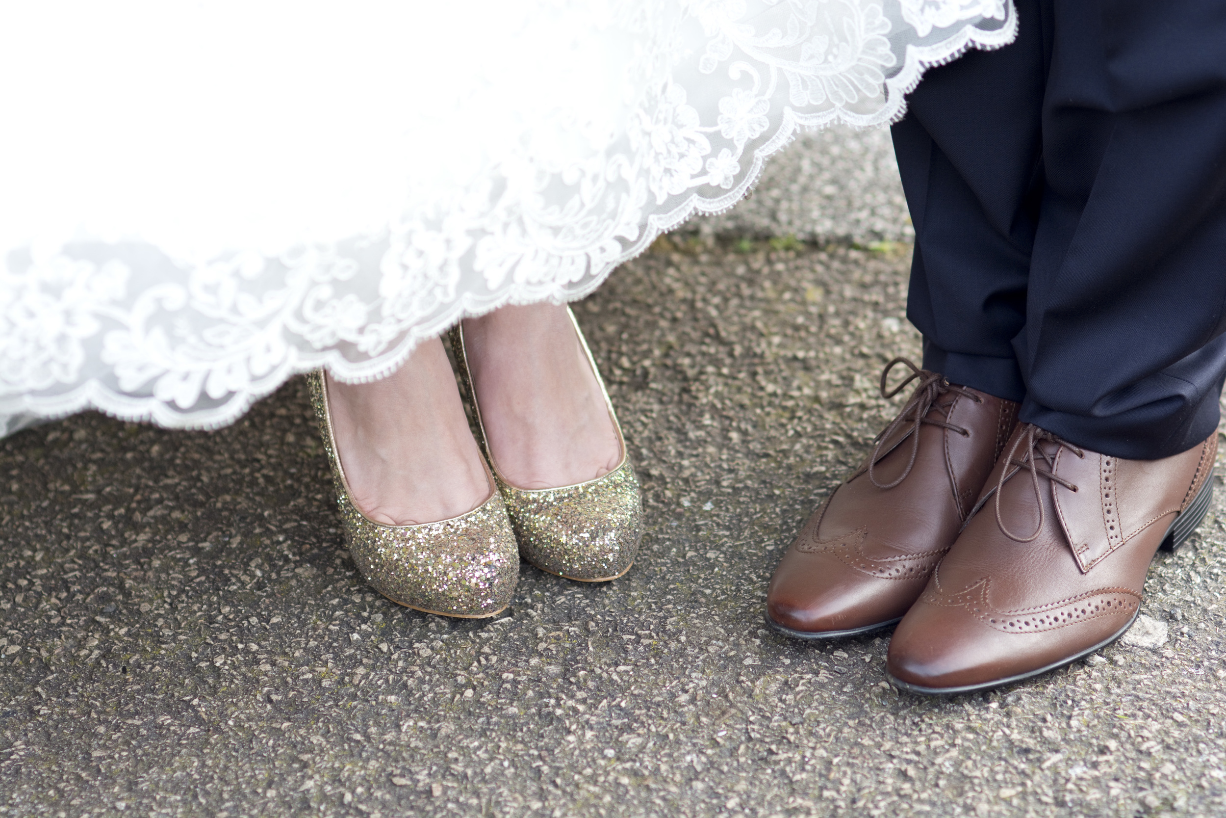 awesome wedding shoes at The GreenBank Hotel Falmouth