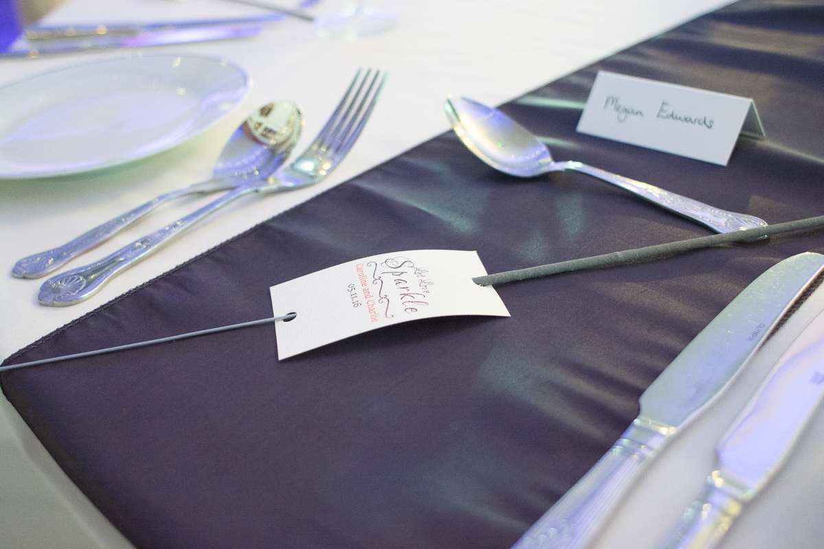 sparkler wedding favour at the whitsand bay fort wedding