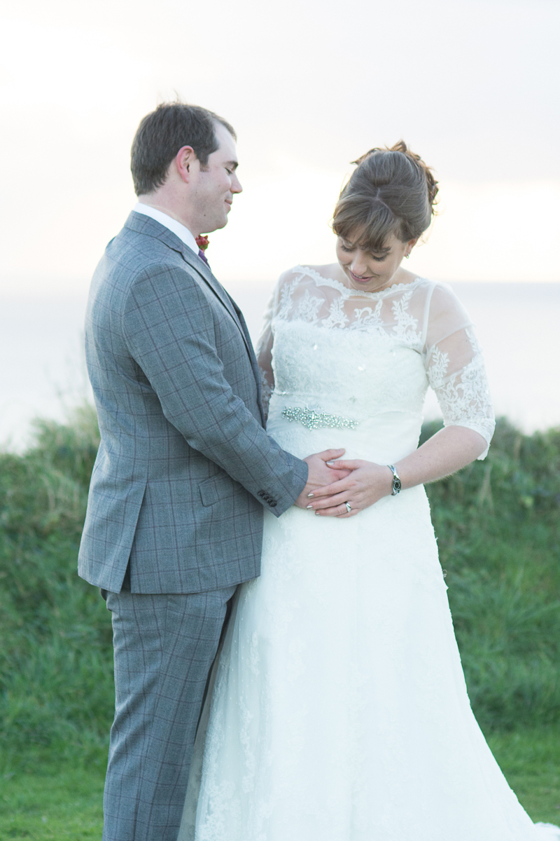 celebrating marriage and new life at whitsand bay fort cornwall