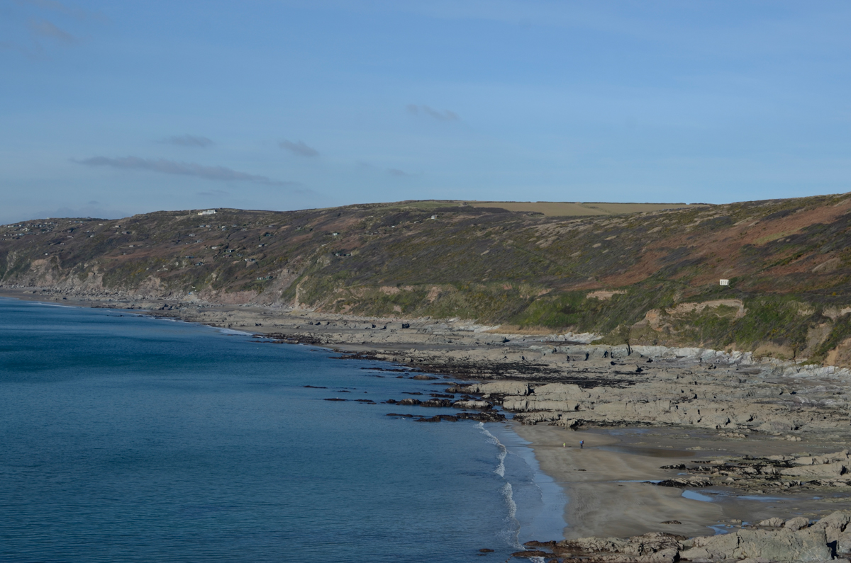 View of the beautiful cornish coastline from the Polhawn fort.