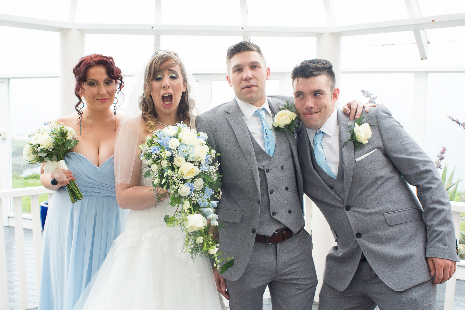 hilarious and cheeky group photos at the atlantic hotel newquay