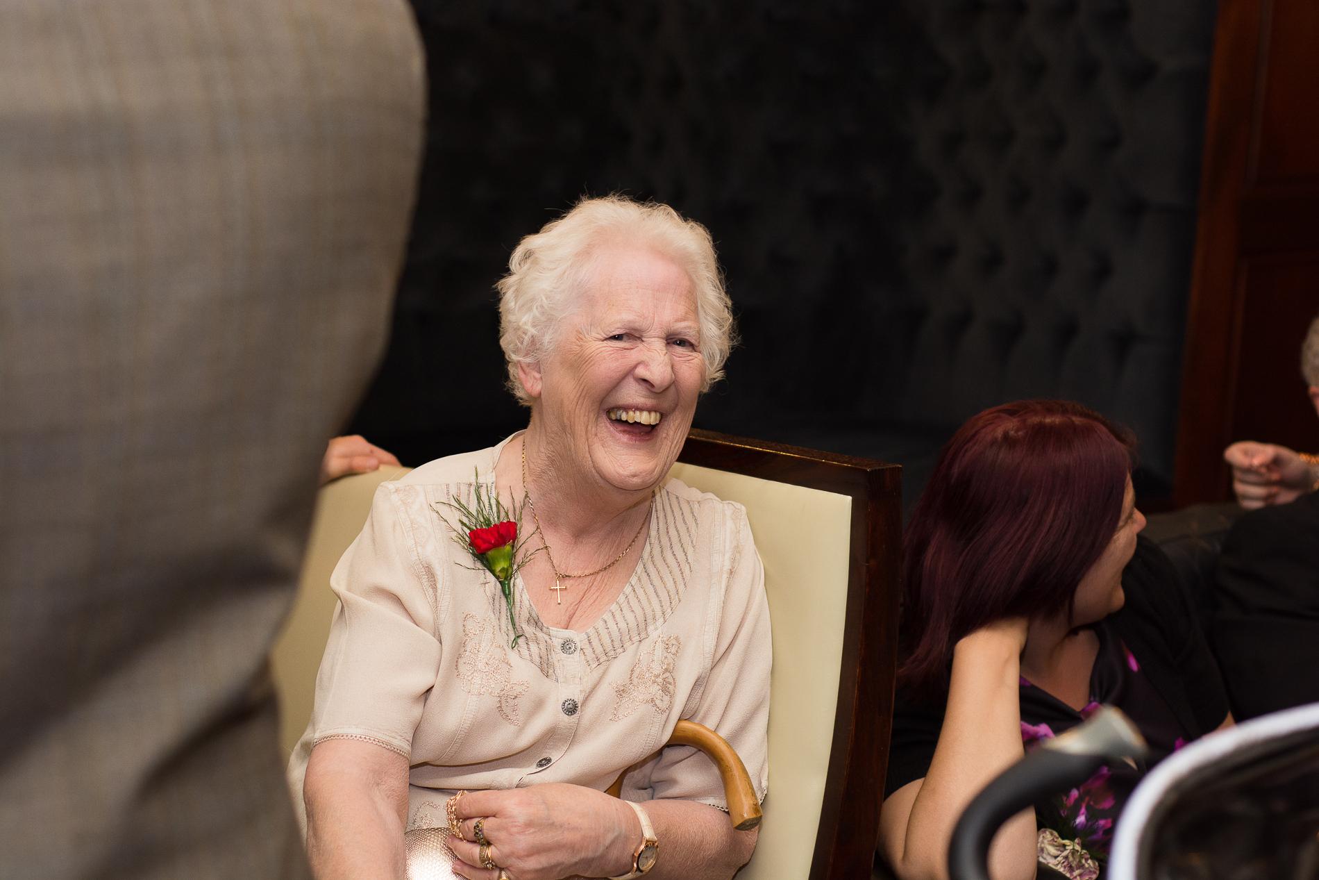 grandmas stunning smile at the atlantic hotel newquay