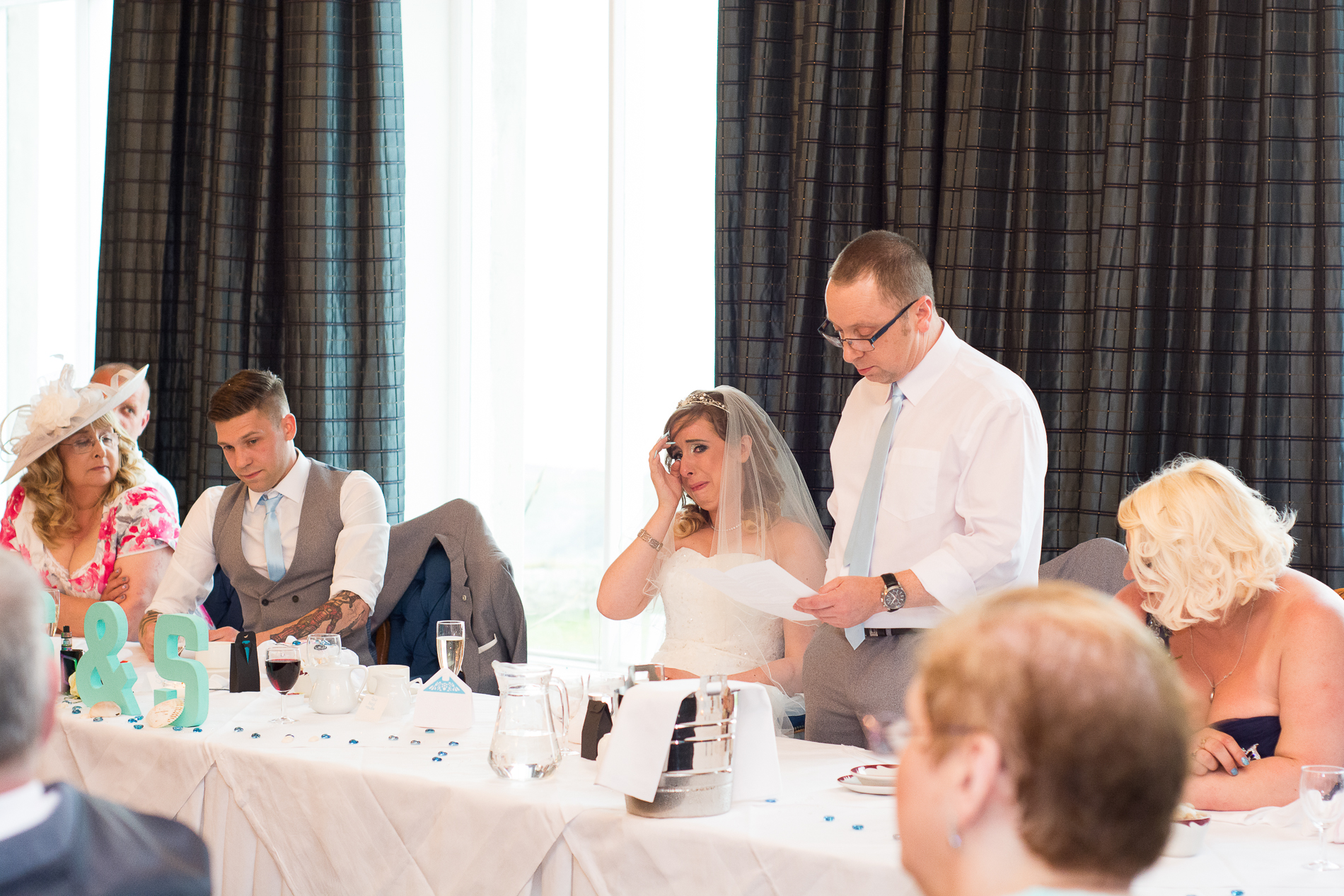 emotional speeches at the Atlantic Hotel Newquay