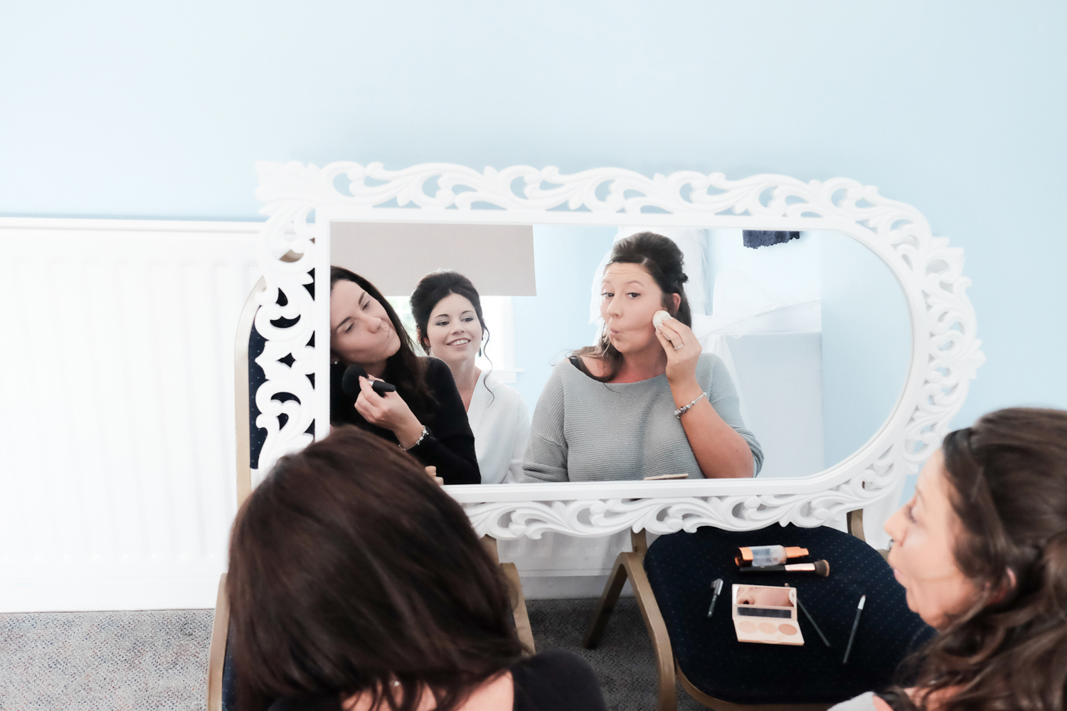 funny faces that you pull whilst doing your makeup at The Lord Haldon Hotel in Devon