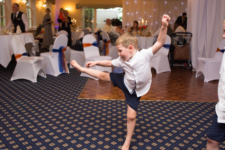 big running kick at The Lord Haldon Hotel in Devon