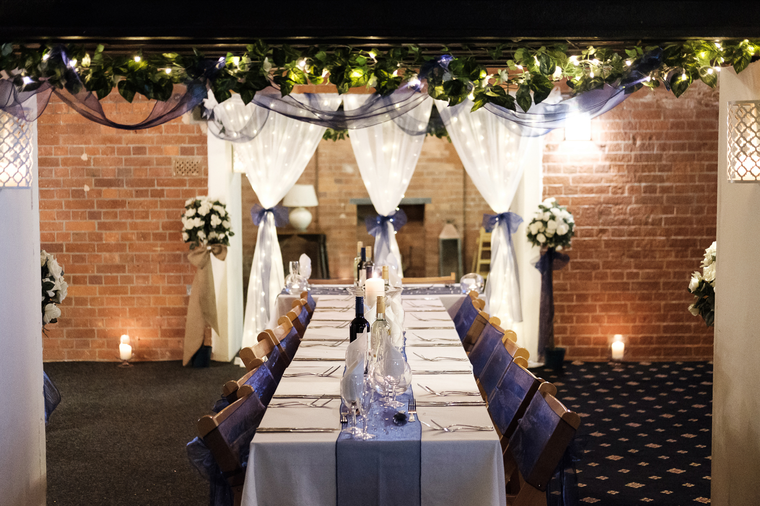 Table layout at Connie and Richard's Whitsand Bay Fort Wedding