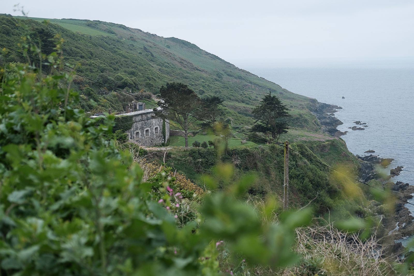 A view of the stunning Polhawn Fort