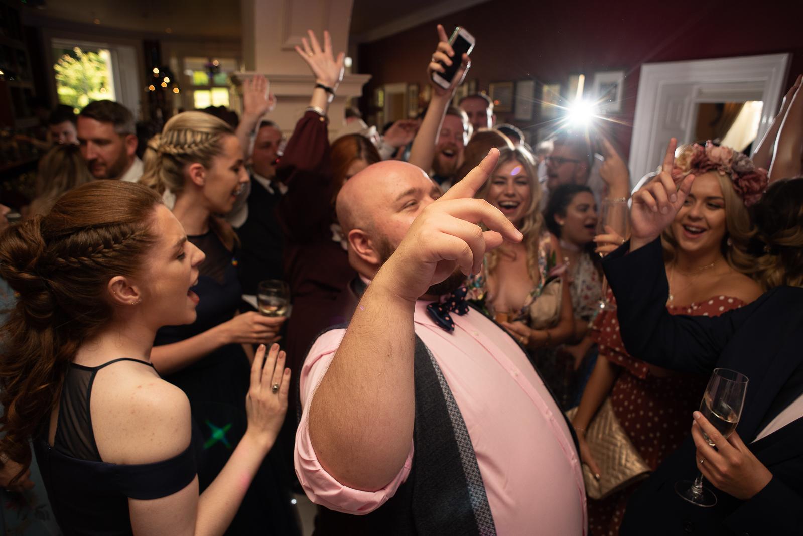 Crazy dance floor at St Elizabeth's House Plymouth wedding