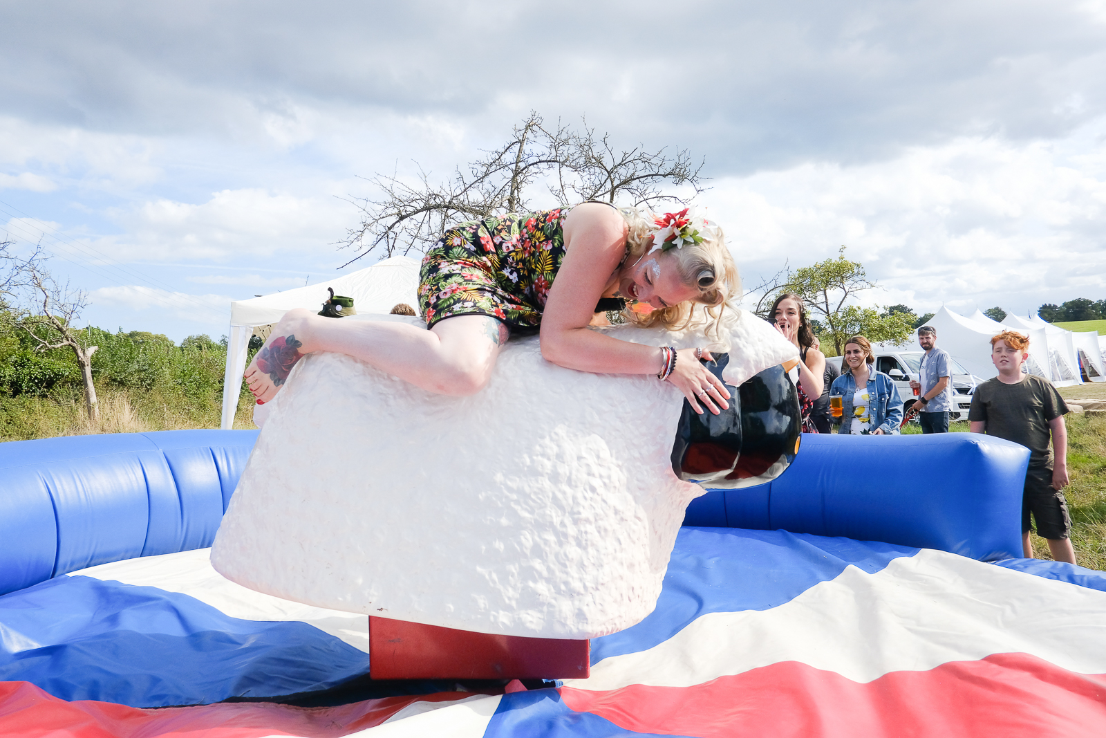Bucking Sheep at Exmouth festival themed wedding